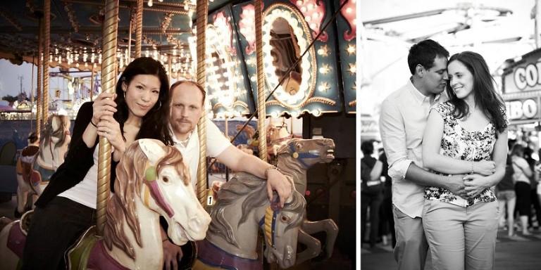 Toronto CNE engagement photos