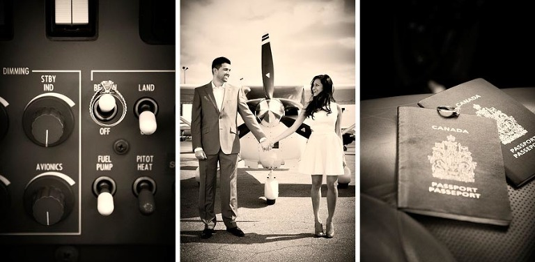 toronto airport engagement photo