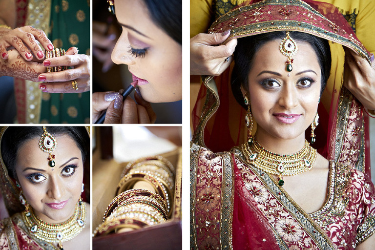 Indian bride getting ready photography by Silverlight