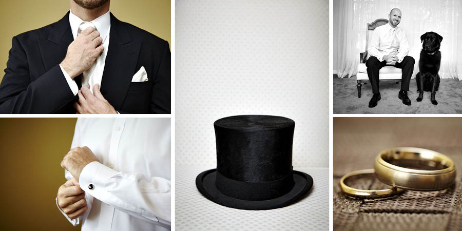 groom top hat getting ready photography