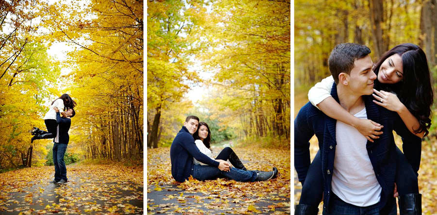 caledon fall engagement session by silverlight photography