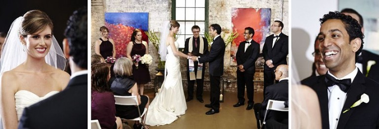 Wedding ceremony at Arta Gallery, Distillery district