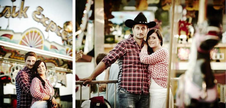 fairground engagement session